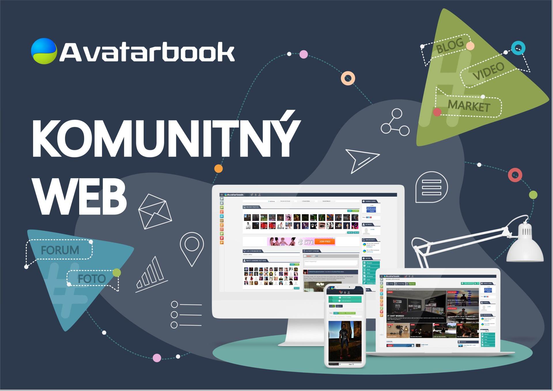 avatarbook web mockup