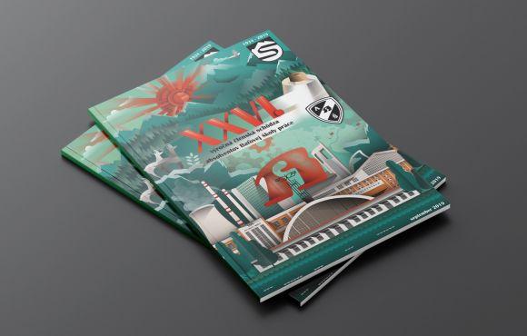 Grafický návrh obálky – Ročenka Klubu absolventov Baťovej školy práce vo Svite