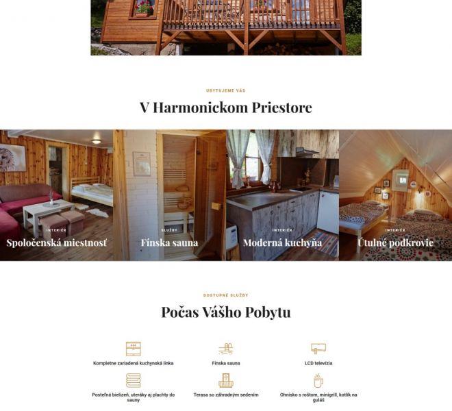 Hotelová web stránka - domovská stránka - homepage