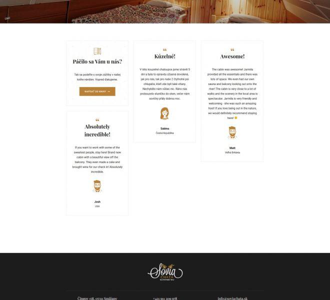 Hotelová web stránka - kniha návštev