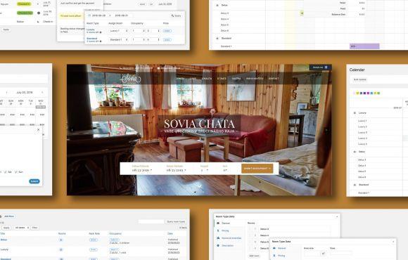 Hotelová web stránka s rezervačným systémom – Sovia Chata