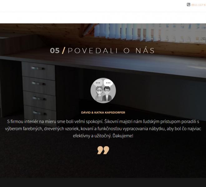 redizajn web stránky pre interiérové štúdio recenzie