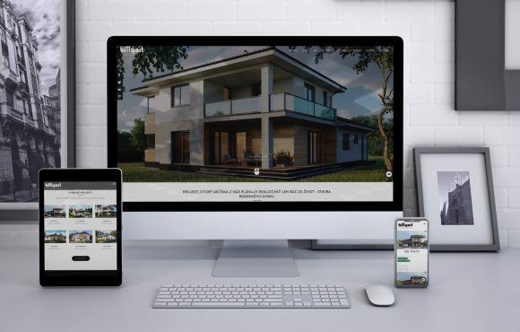 Web stránka pre stavebnú spoločnosť – BILLYART