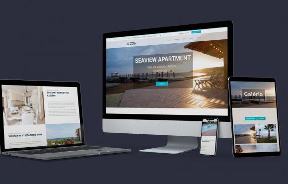 Web stránka pre ubytovacie zariadenie – APARTMÁN